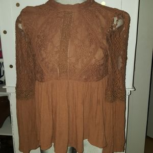 American Eagle Lace Babydoll Top